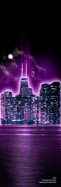 Chicago Skyline Photoshop Poster Design ©2013 Allison Holden
