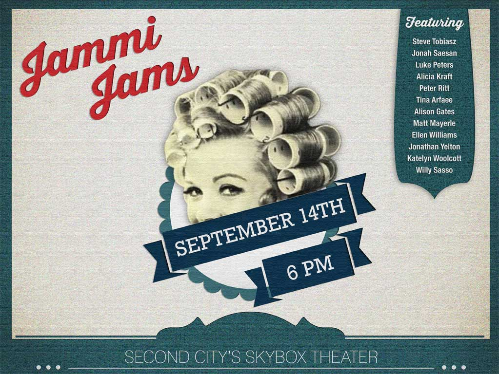 Second City Jammi Jams Vintage Web Poster Ad Design ©2014 Allison Holden